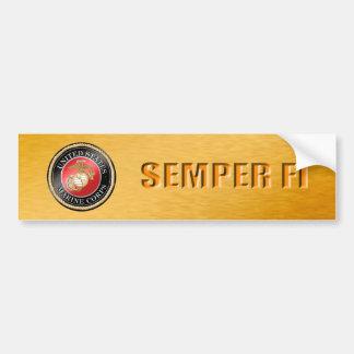 Pegatina para el parachoques del USMC Semper Fi