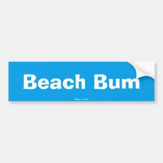 Pegatina para el parachoques del vago de la playa
