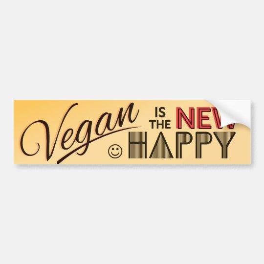 Pegatina para el parachoques del vegano