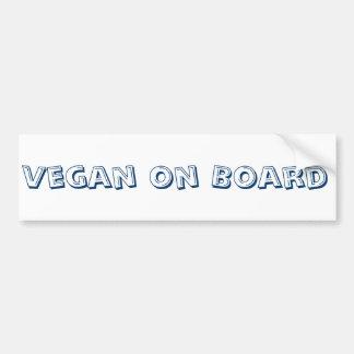 Pegatina para el parachoques del vegano a bordo
