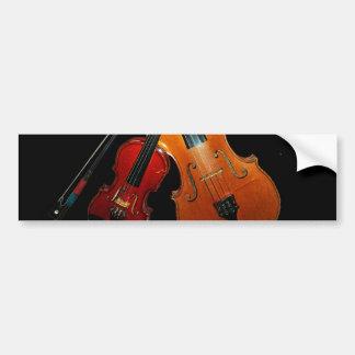 Pegatina para el parachoques del violín pegatina para coche
