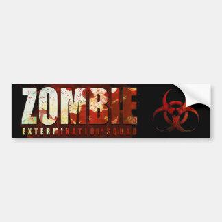 Pegatina para el parachoques del zombi pegatina para coche