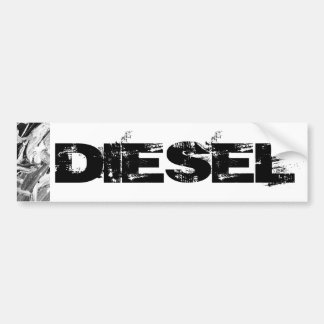 Pegatina para el parachoques diesel