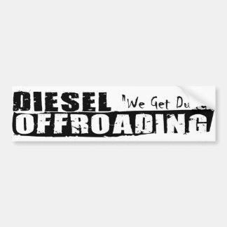 Pegatina para el parachoques diesel de Offroading