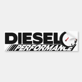 Pegatina para el parachoques diesel de Preformance