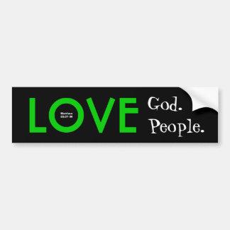 Pegatina para el parachoques:  Dios del amor.