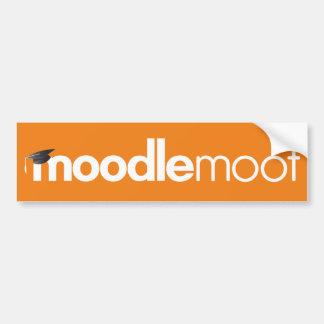 Pegatina para el parachoques discutible de Moodle