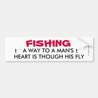 Pegatina para el parachoques divertida de la pesca pegatina de parachoque