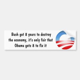 Pegatina para el parachoques divertida de Obama Etiqueta De Parachoque