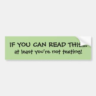 Pegatina para el parachoques divertida de Texting