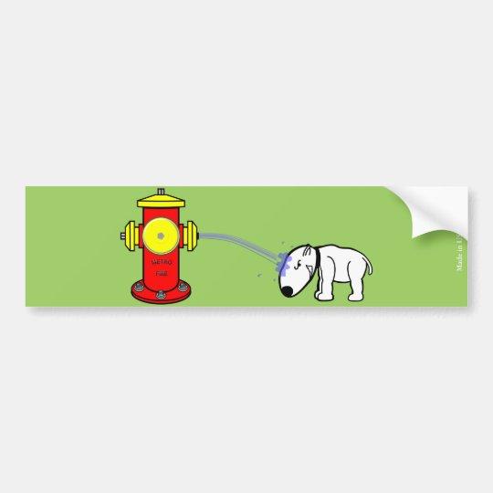 Pegatina para el parachoques divertida del perro y pegatina para coche