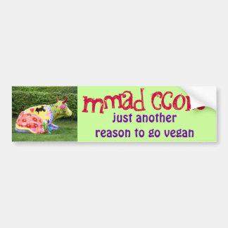 pegatina para el parachoques divertida del vegano pegatina para coche