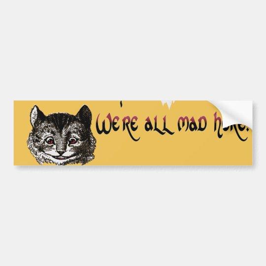 Pegatina para el parachoques enojada del gato pegatina para coche