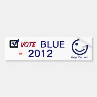 Pegatina para el parachoques feliz 2012 del azul d pegatina de parachoque