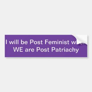 Pegatina para el parachoques feminista