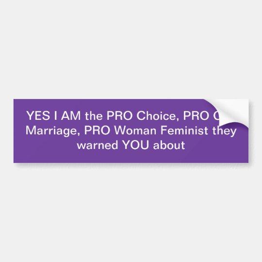 Pegatina para el parachoques feminista II