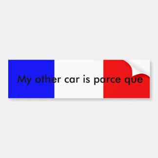 Pegatina para el parachoques francesa del retruéca etiqueta de parachoque