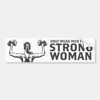 Pegatina para el parachoques fuerte de la mujer pegatina para coche