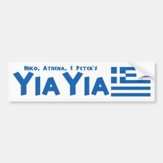 Pegatina para el parachoques griega de la bandera pegatina para coche