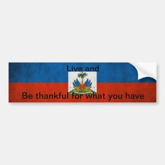 Pegatina para el parachoques haitiana de la etique pegatina para coche