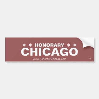 Pegatina para el parachoques honoraria de Chicago Pegatina Para Coche