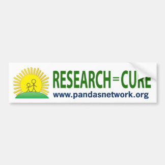 Pegatina para el parachoques: Investigación = cura Pegatina Para Coche