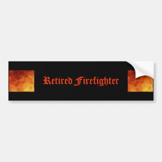 Pegatina para el parachoques jubilada del bombero