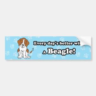 Pegatina para el parachoques linda del beagle del  pegatina para coche
