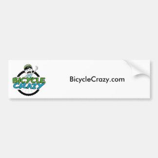 Pegatina para el parachoques loca de la bicicleta etiqueta de parachoque