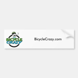 Pegatina para el parachoques loca de la bicicleta pegatina para coche