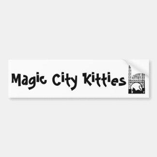 Pegatina para el parachoques mágica de los gatitos pegatina para coche