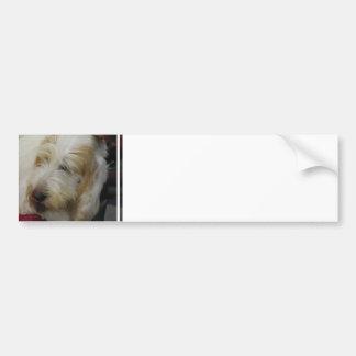 Pegatina para el parachoques magnífica del perro d pegatina para coche