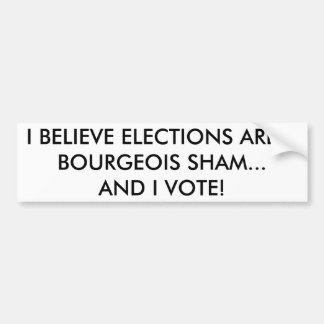 Pegatina para el parachoques marxista del votante