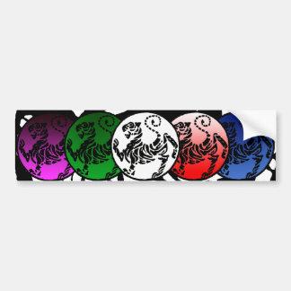 Pegatina para el parachoques multicolora imponente