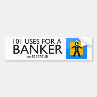 pegatina para el parachoques política - banquero a etiqueta de parachoque