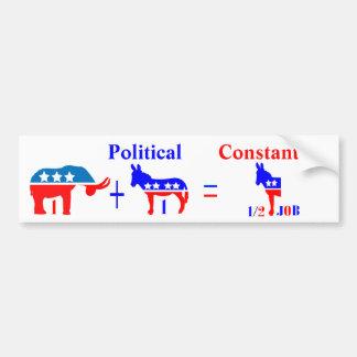 Pegatina para el parachoques política del constant etiqueta de parachoque