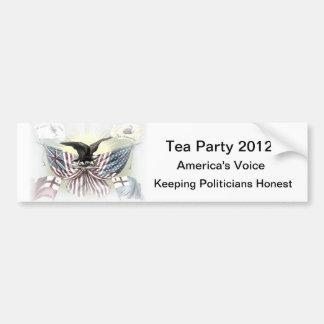 Pegatina para el parachoques política del engranaj etiqueta de parachoque