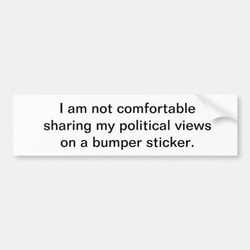 Pegatina para el parachoques política etiqueta de parachoque