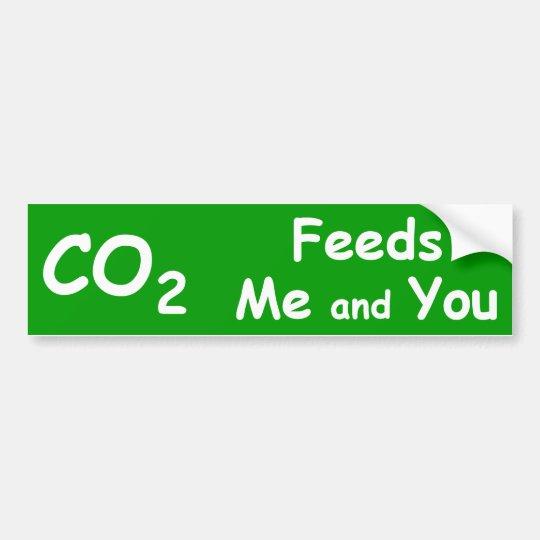 Pegatina para el parachoques Pro-CO2
