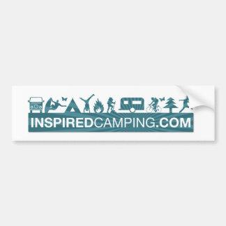 Pegatina para el parachoques que acampa inspirada