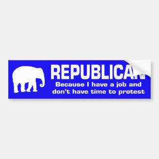 Pegatina para el parachoques republicana divertida pegatina para coche