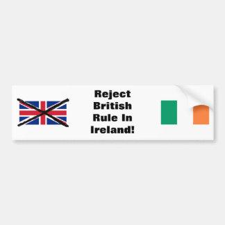 Pegatina para el parachoques republicana irlandesa pegatina para coche