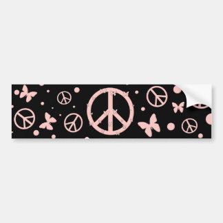 Pegatina para el parachoques rosada de la paz y de pegatina para coche