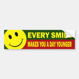 Pegatina para el parachoques sonriente de la cara pegatina para coche