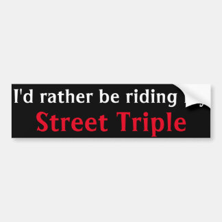 pegatina para el parachoques triple de la calle