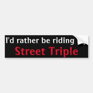 pegatina para el parachoques triple de la calle pegatina para coche