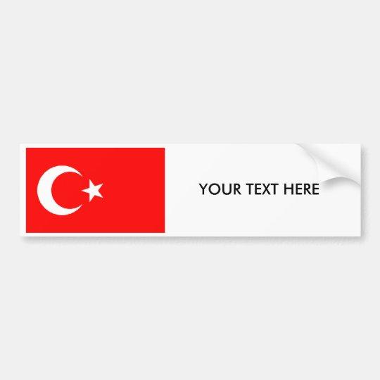 Pegatina para el parachoques turca de la BANDERA
