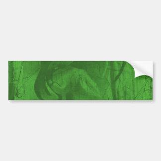 Pegatina para el parachoques verde de las reflexio etiqueta de parachoque