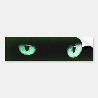 Pegatina para el parachoques verde de los ojos de pegatina para coche
