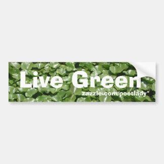 Pegatina para el parachoques verde viva pegatina para coche